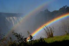 Zambesi Wiktoria i rzeki spadki Zimbabwe Obrazy Stock