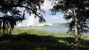 Zambezi River Livingstone Zambia Royaltyfri Bild