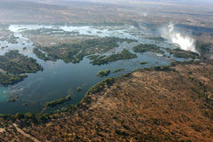 Zambezi river from the sky Stock Image