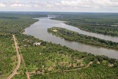 Zambezi River in Zimbabwe Stock Image