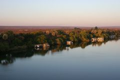Zambezi rivier Royalty-vrije Stock Fotografie