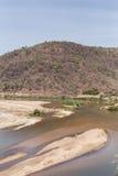 Zambezi rzeka w Afryka Obrazy Stock