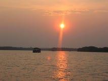 Zambezie水坝 免版税库存图片