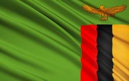 zambia bandery ilustracji