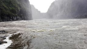 Zambia de ebullición del río Zambezi del pote Foto de archivo