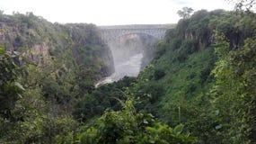 Zambia de ebullición del río Zambezi del pote Imagenes de archivo