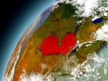 Zambia de la órbita de Earth modelo Foto de archivo libre de regalías