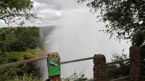 Zambia de Vicfalls el río Zambezi Fotos de archivo