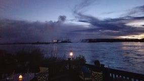 Zambia del Zambeze de la puesta del sol Imagenes de archivo
