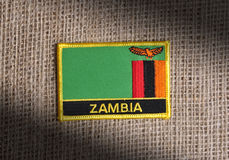 Zambia flag. Royalty Free Stock Photos