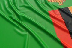 Zambia flag Stock Photography