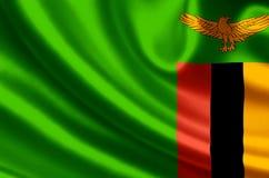 Zambia flaggaillustration vektor illustrationer