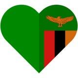 Zambia heart flag Royalty Free Stock Image