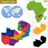 Zambia map Stock Images