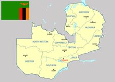Zambia map - cdr format Stock Images