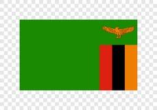 Zambia - Nationale Vlag royalty-vrije illustratie