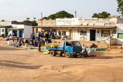 ZAMBIA - OCTOBER 14 2013: Local people go about day to day life Stock Photo