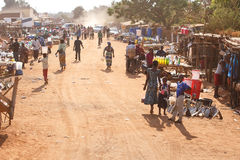 ZAMBIA - OCTOBER 14 2013: Local people go about day to day life Royalty Free Stock Photo