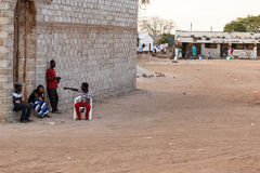 ZAMBIA - OCTOBER 14 2013: Local people go about day to day life Royalty Free Stock Image