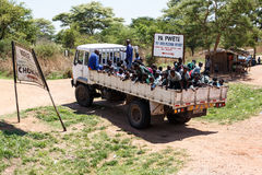 ZAMBIA - OCTOBER 14 2013: Local people go about day to day life Stock Photos