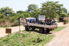ZAMBIA - OCTOBER 14 2013: Local people go about day to day life Royalty Free Stock Photos