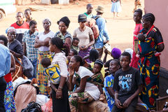 ZAMBIA - OCTOBER 14 2013: Local people go about day to day life Royalty Free Stock Images
