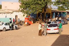 ZAMBIA - OCTOBER 14 2013: Local people go about day to day life Stock Photography