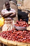 ZAMBIA - OKTOBER 14 2013: De plaatselijke bevolking gaat over het leven van dag tot dag Royalty-vrije Stock Foto