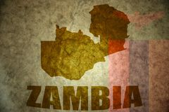 Zambia vintage map Royalty Free Stock Photography