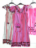 Pink Dresses. Traditional Zambian dresses for sale stock photo