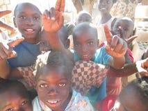 Zambiska barn Arkivbild
