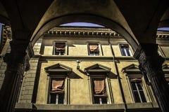 Zamboni Bologna portyk Zdjęcie Stock