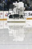 Zamboni with Fresh Ice Stock Photos