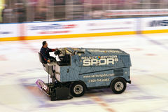 Zamboni in Hockey Game Royalty Free Stock Images