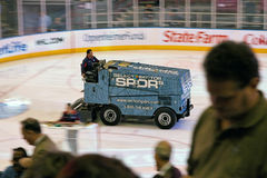 Zamboni in Hockey Game Madison Square Garden Stock Images