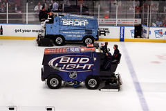 Zamboni in Ice Hockey Game Royalty Free Stock Images