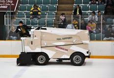 Zamboni in NCAA Hockey Game royalty free stock image