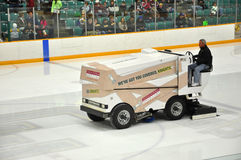 Zamboni in NCAA Hockey Game Stock Photo