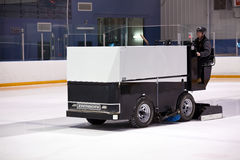 Zamboni preps the ice Royalty Free Stock Photo