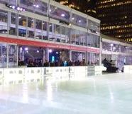 Zamboni Resurfacing the Ice Skating Rink at the Winter Village at Bryant Park, Midtown, Manhattan, NYC, NY, USA royalty free stock image