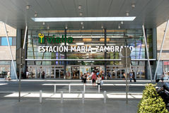 Zambrano Railway Station entrance, Malaga. Royalty Free Stock Photo