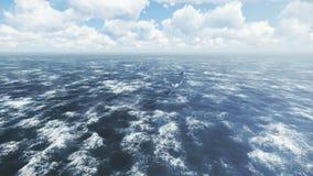 Zambullida de Borei submarino ruso en las aguas septentrionales ilustración del vector