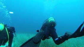 Zambullida del descubrimiento en Grecia almacen de video