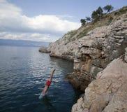 Zambullida en el mar Foto de archivo