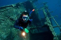Zambullidor de equipo de submarinismo Imágenes de archivo libres de regalías