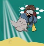 Zambullidor de equipo de submarinismo libre illustration