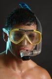 Zambullidor de equipo de submarinismo Imagen de archivo libre de regalías