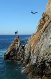 Zambullidor del acantilado de Acapulco Foto de archivo libre de regalías
