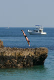 Zambullidor en el mar Foto de archivo libre de regalías