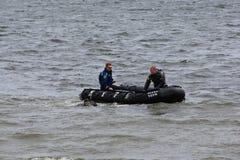 Zambullidores de equipo de submarinismo de NYPD Imagen de archivo libre de regalías
